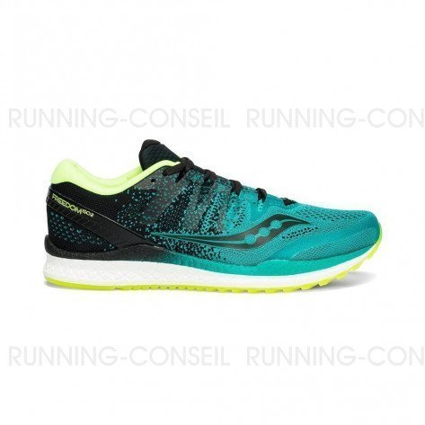SAUCONY FREEDOM ISO 2 Homme   Teal / Black