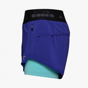 DIADORA SHORTS L. DOUBLE LAYER HOMME | BLUE CLEMATIS