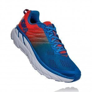HOKA CLIFTON 6 HOMME | Mandarin Red / Imperial Blue