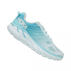 HOKA CLIFTON 6 WIDE FEMME | Antigua Sand / Wan Blue