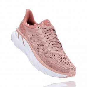 HOKA ONE ONE Clifton 7 MISTY ROSE / CAMEO BROWN Femme