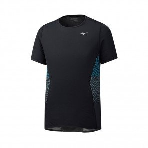 MIZUNO Tee-Shirt manches courtes AERO PREMIUM Homme | Black | Collection Printemps-Été 2019