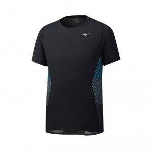 MIZUNO Tee-Shirt manches courtes AERO PREMIUM Homme | Black | Collection Printemps-Été 2019