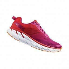 HOKA CLIFTON 6 WIDE Femme | Poppy Red / Cactus Flower